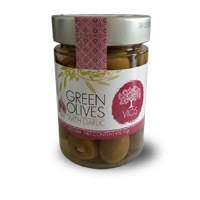 VIOS Organic Green Olives With Garlic