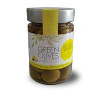 VIOS Organic Green Olives With Lemon