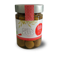 VIOS Organic Green Olives With Pimentos